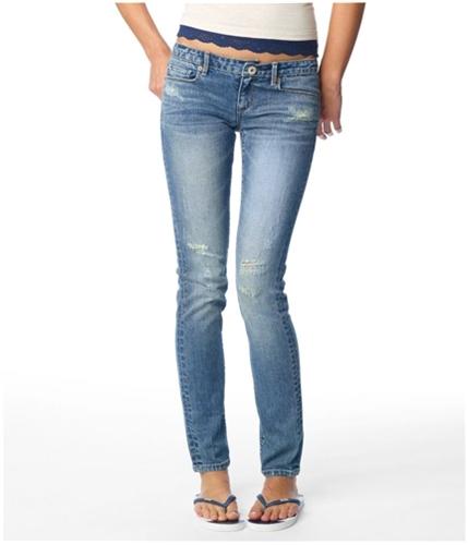 Aeropostale Womens Low Rise Super Skinny Trouser Fit Jeans bluehu 00x32