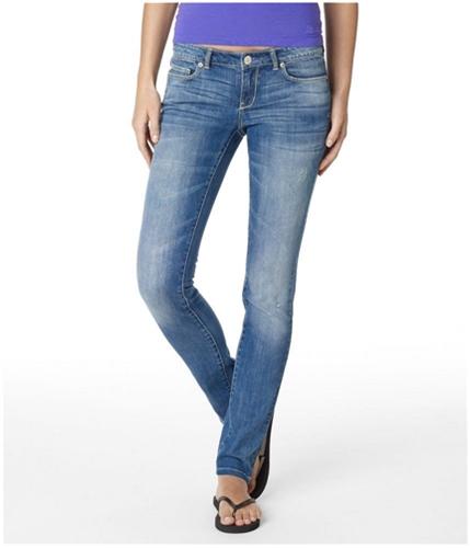 Aeropostale Womens Low Rise Ultra Skinny Fit Jeans denim9 1/2x30