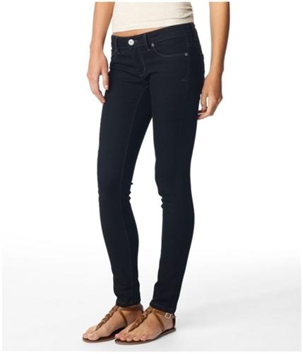 Aeropostale Womens Super Low Rise Skinny Jegging Casual Trouser Pants black 00x32