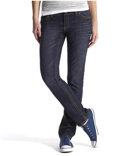 Aeropostale Womens Low Rise Slim Skinny Fit Jeans dark 3/4x30