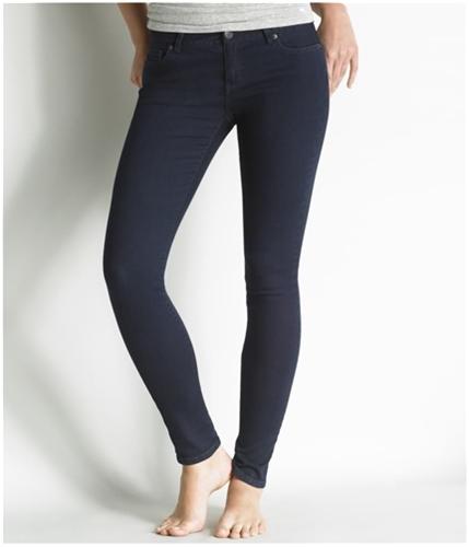 Aeropostale Womens Lola Legging Skinny Fit Jeans dark 1/2x32