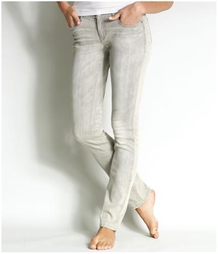 Aeropostale Womens Ultra Low Rise Skinny Fit Jeans blackgray 0x32