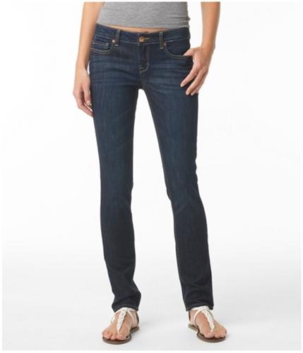 Aeropostale Womens Solid Skinny Fit Jeans canoe 00x30