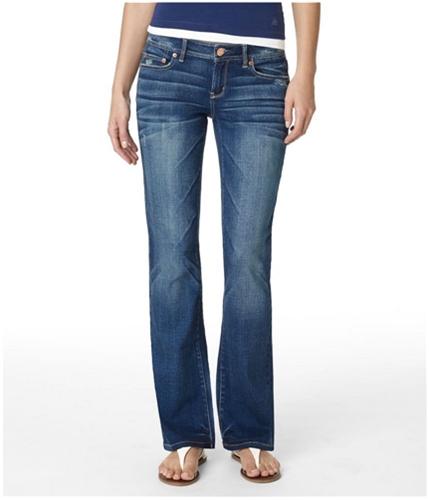 Aeropostale Womens Low Rise Skinny Fit Jeans dkwash 00x30