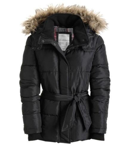 Aeropostale Womens A87 Puffer Jacket black XS