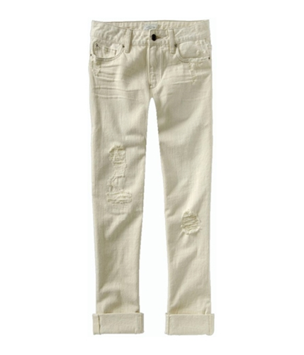 Aeropostale Womens Kylie Boyfriend Low Rise Relaxed Fit Jeans natural 3/4x34
