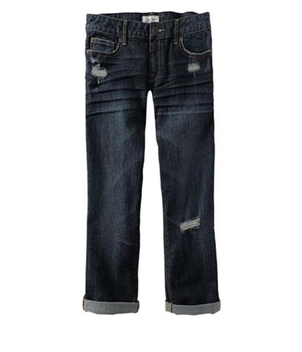 Aeropostale Womens Denim Regular Fit Jeans dark 5/6x24