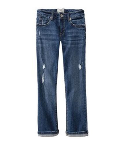 Aeropostale Womens Tattered 5 Pocket Regular Fit Jeans loadenim 00x24