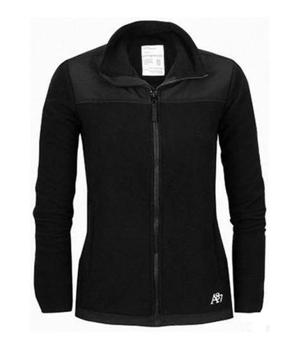 Aeropostale Womens Fleece Zip Up Sweatshirt black XS