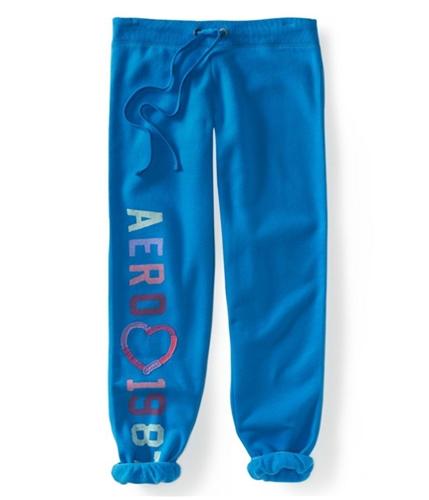 Aeropostale Womens Comfy Fit Ankle Length Casual Sweatpants ltblue L/32