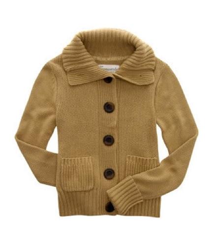 Aeropostale Womens Button-front Pocket Cardigan Sweater darkstbrown S