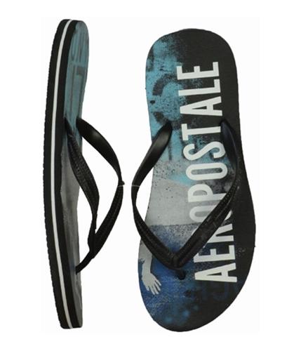 Aeropostale Mens Surf Flip Flop Sandals black M