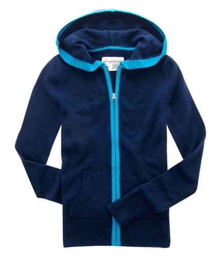 Aeropostale Womens Knit Cardigan Sweater navyblue S