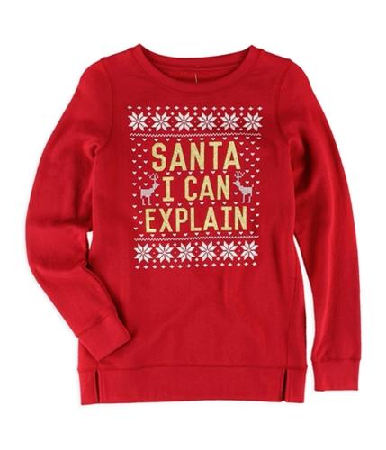 Aeropostale Girls Santa I Can Explain Sweatshirt 615 5