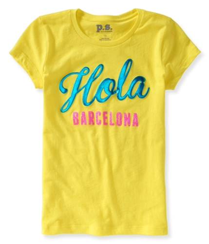 Aeropostale Girls Hola Barcelona Graphic T-Shirt