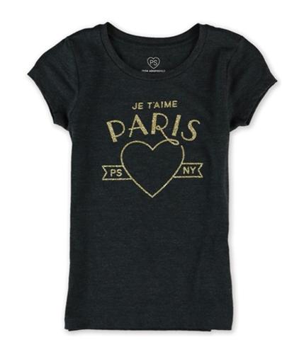 Aeropostale Girls Je Taime Glitter Graphic T-Shirt 001 6
