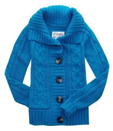 Aeropostale Womens Pocket Cardigan Sweater frictioblue XS