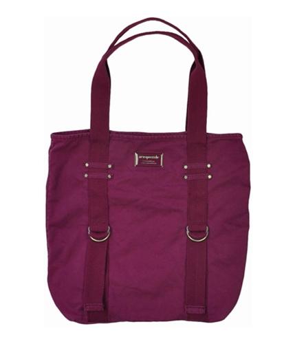 Aeropostale Womens Solid Shopper Tote Handbag Purse twilightpurples