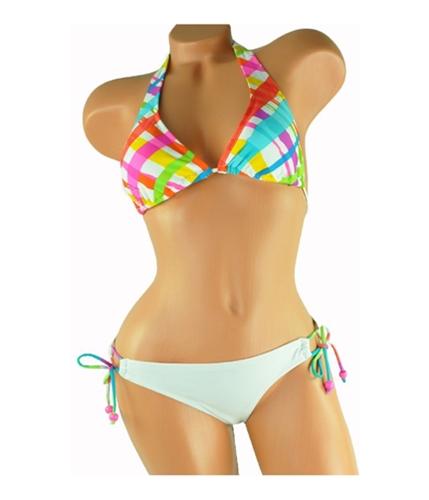 Aeropostale Womens Graphic Side Tie 2 Piece Bikini bleach S