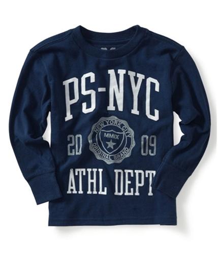 Aeropostale Boys P.s. Ps-nyc Long Sleeve Graphic T-Shirt bluela L