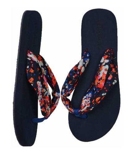 Aeropostale Womens Solid Flip Flop Sandals mulicolorbrtmed 6