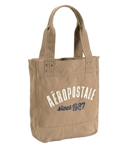Aeropostale Womens Since 1987 Tote Handbag Purse caramelbrown