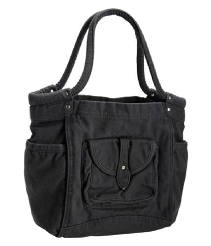Aeropostale Womens Solid Shoulder Handbag Purse blackgray