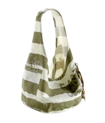 Aeropostale Womens Slouch Shoulder Beach Tote Handbag Purse greenblue