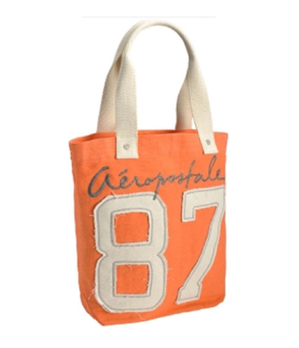 Aeropostale Womens Embroidered Tote Handbag Purse peach