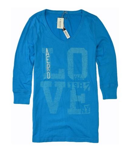 Aeropostale Womens Aero Love Est. 1987 Graphic T-Shirt frictioblue S