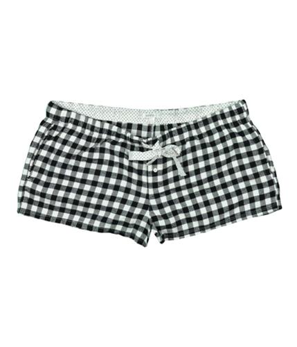 Aeropostale Womens Fleece Plaid Booty Casual Mini Shorts whites XL