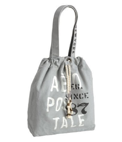 Aeropostale Womens Graphic Tote Handbag Purse patinagray