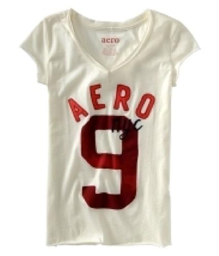 Aeropostale Womens Aero Nyc Graphic T-Shirt pearlwhite XS