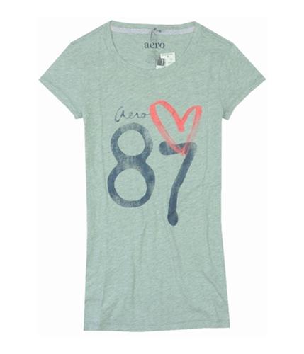 Aeropostale Womens Aero 87 Graphic T-Shirt lththrgray XS