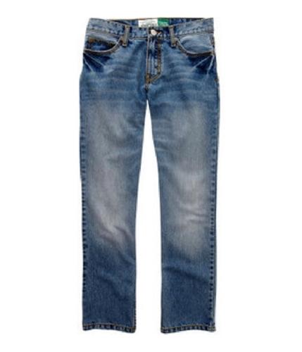Aeropostale Mens Md Wash Straight Leg Jeans mdwash 34x34