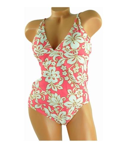 Hula Honey Womens Island Floral 2 Piece Tankini coralpink XL
