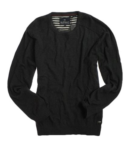 Buffalo David Bitton Mens Crew Neck Knit Sweater fadedblack S