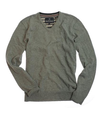 Buffalo David Bitton Mens V-neck Knit Sweater umber S