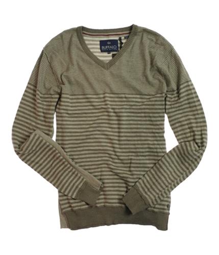 Buffalo David Bitton Mens V-neck Knit Sweater darkbeige M
