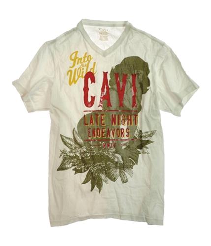 CAVI Mens Into The Wild Screen Print Graphic T-Shirt pcockblu 2XL