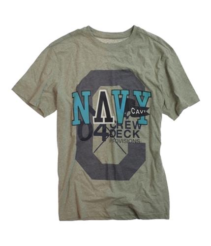 CAVI Mens Ls Woven Graphic T-Shirt heathergrey L
