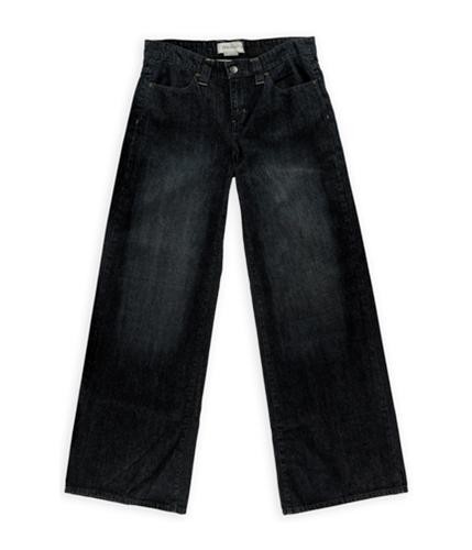 BCBG Womens Rigid Denim 4 Pocket Wide Leg Jeans 438dkstonewashed 28x32