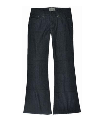 BCBG Womens Rigid Denim 4 Pocket Wide Leg Jeans stonewashed 27x32
