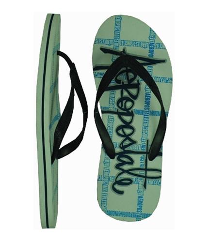 Aeropostale Mens Print Flip Flop Sandals lunablue XL