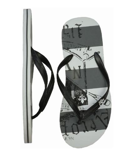 Aeropostale Mens Stripe Flip Flop Sandals black L