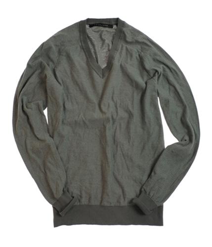 Sean John Mens Ls Striped Knit Sweater pmblack XL