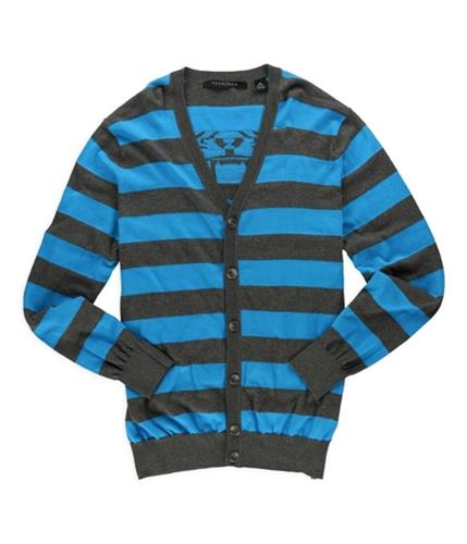 Sean John Mens Rugby Tiger Cardigan Sweater bluegray 2XL