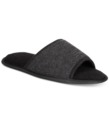 Gold Toe Mens Memory Foam Open-toe Comfort Slippers black M