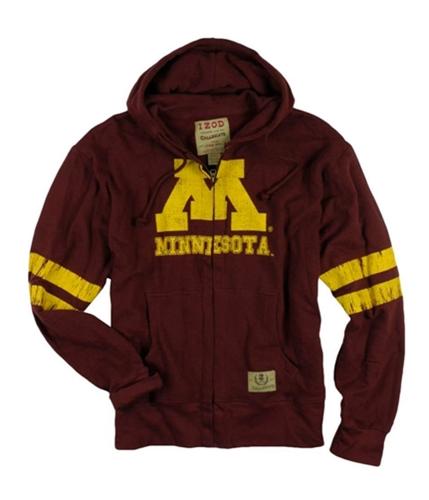 IZOD Mens Collegiate Full Zip Hooded Sweatshirt maroon M