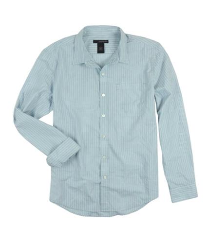 Calvin Klein Mens Thin Pinstripes Button Up Shirt pilot S